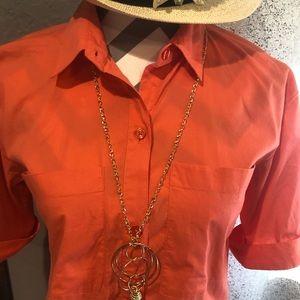 salmon /orange Michael Kors shirt dress